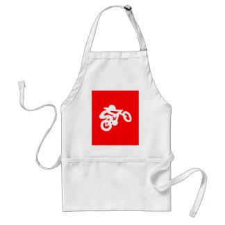 バイクのライダーの赤 スタンダードエプロン