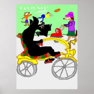 バイクの乗車のCliveのスコッチテリア ポスター