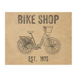 バイクの店1975年 ウッドウォールアート