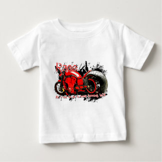 バイクの競争 ベビーTシャツ