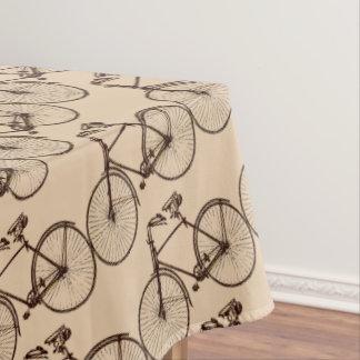 バイクの自転車のかわいらしいテーブルクロスのオートミールの茶色のクリーム テーブルクロス