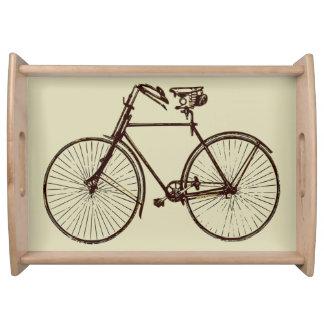 バイクの自転車のオートミールのクリームの茶色のサービングの皿 トレー