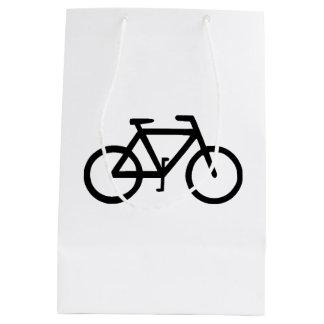 バイクの自転車のサイクリストのバイクもしくは自転車に乗る人 ミディアムペーパーバッグ