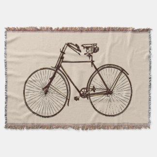 バイクの自転車のバイクの投球毛布のオートミールの茶色 スローブランケット