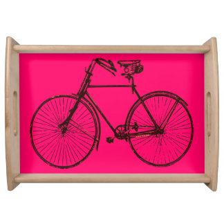 バイクの自転車のピンクの茶色のサービングの皿 トレー