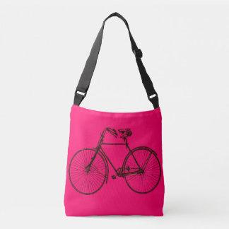 バイクの自転車のピンクの茶色のトートバック クロスボディバッグ