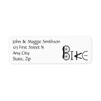 バイクの部品のカスタムな住所から成っている単語を自転車に乗って下さい ラベル