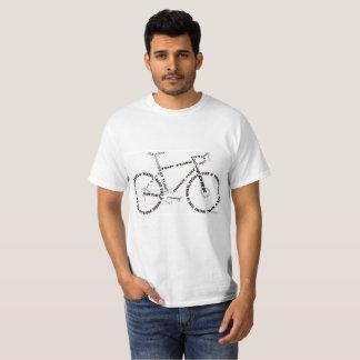 バイクの部品のシルエットのデザインのワイシャツ Tシャツ