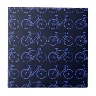 バイクの青いパターン タイル