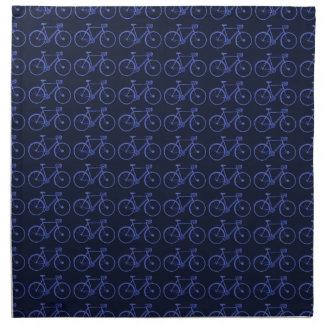 バイクの青いパターン ナプキンクロス