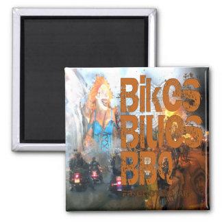 バイクの青BBQのギフト マグネット