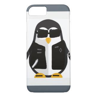 バイクもしくは自転車に乗る人のペンギン iPhone 8/7ケース