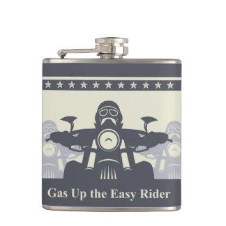 バイクもしくは自転車に乗る人の再結集の容易なライダーのフラスコ、オートバイのテーマ フラスク