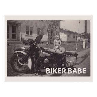 バイクもしくは自転車に乗る人の可愛い人 ポストカード
