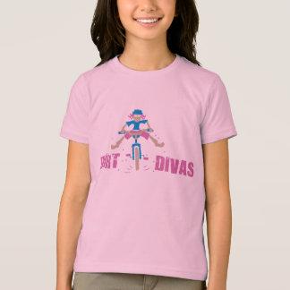 バイクもしくは自転車に乗る人の女の子 Tシャツ