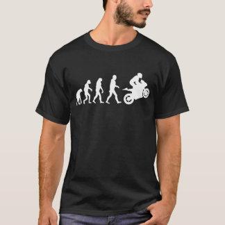 バイクもしくは自転車に乗る人の進化のMotorsport Tシャツ