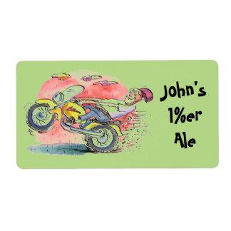 バイクもしくは自転車に乗る人のHomebrewビールはこれらのギフトのラベルを個人化します ラベル