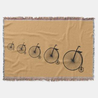 バイクもしくは自転車に乗る人毛布 スローブランケット