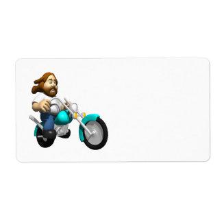 バイクもしくは自転車に乗る人4 ラベル