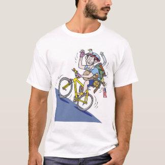 バイクもしくは自転車に乗る人 Tシャツ