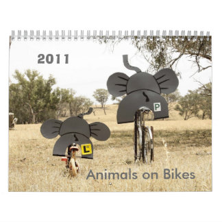 バイク2011のカレンダー象の動物 カレンダー