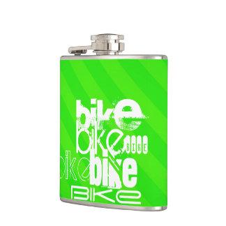 バイク; ネオン緑のストライプ フラスク