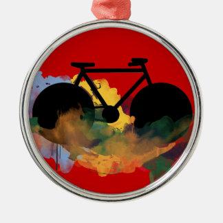 バイク、自転車; /サイクリング自転車に乗ること メタルオーナメント