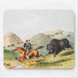 バイソンの狩り場面1845年 マウスパッド