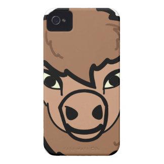 バイソンの顔の芸術 Case-Mate iPhone 4 ケース