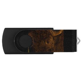 バイソンの顔 USBフラッシュドライブ