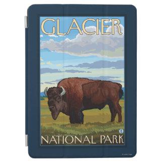 バイソン場面-グレーシャー国立公園、MT iPad AIR カバー