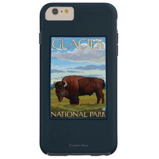 バイソン場面-グレーシャー国立公園、MT TOUGH iPhone 6 PLUS ケース