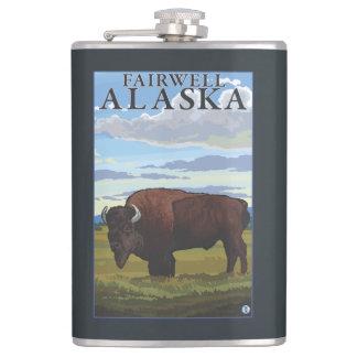 バイソン場面- Fairwell、アラスカ フラスク