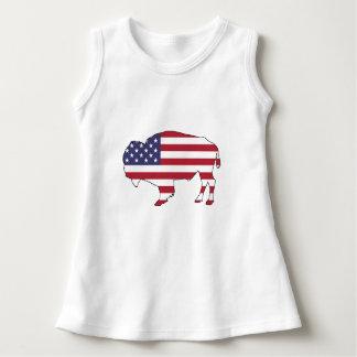 バイソン-米国旗 ドレス
