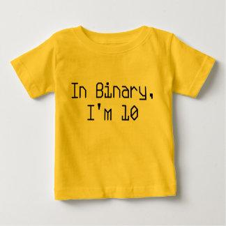 バイナリでは、私は10才です ベビーTシャツ