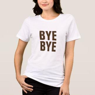 バイバイおもしろいなヒップスターのTシャツのデザイン Tシャツ