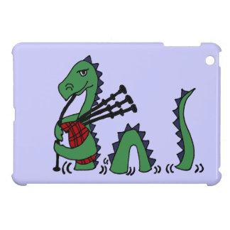 バグパイプを演奏しているネス湖おもしろいなモンスター iPad MINIケース