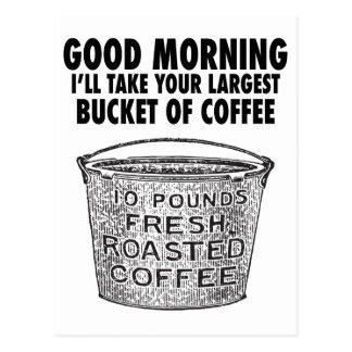 バケツによるコーヒー ポストカード