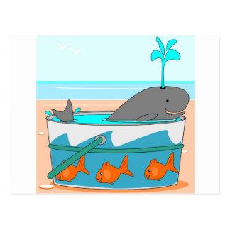 バケツのクジラ ポストカード