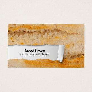バゲットのカスタマイズ可能な食糧クローズアップの名刺 名刺