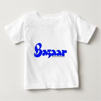 バザーのレトロのフォント ベビーTシャツ