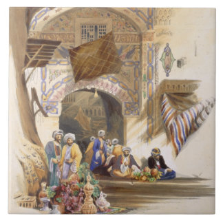 バザーの出入口、壮大なカイロのパブ。 1846年(litho タイル