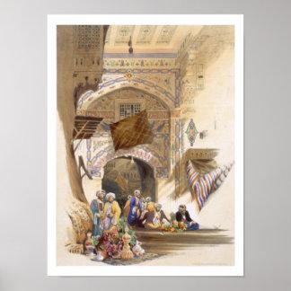 バザーの出入口、壮大なカイロのパブ。 1846年(litho ポスター