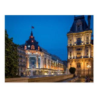 バザーde l'Hotel de Villeのたそがれ ポストカード