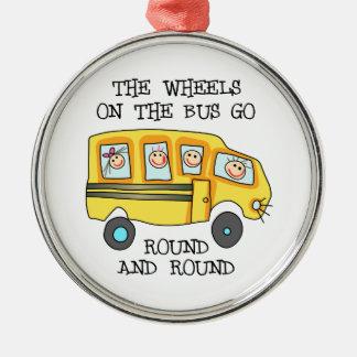 バスの車輪 メタルオーナメント