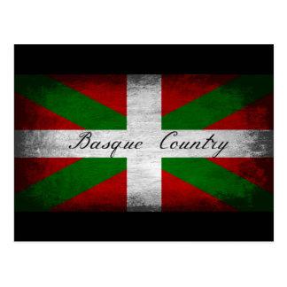 バスクの国の動揺してな旗 ポストカード
