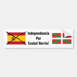 バスクの国の独立バンパーステッカー バンパーステッカー
