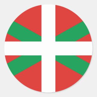 バスクの旗のステッカー ラウンドシール