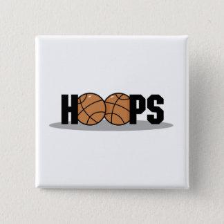 バスケのバスケットボールのTシャツおよびギフト 5.1CM 正方形バッジ
