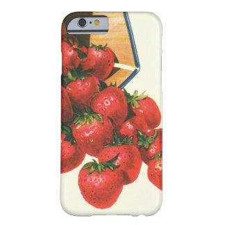 バスケットのヴィンテージのいちご、食糧フルーツの果実 BARELY THERE iPhone 6 ケース
